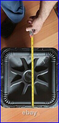 KICKER 45L7R154 1800 WATT DUAL 4 Ohm VOICE COIL 15 INCH SQUARE SUBWOOFER USED