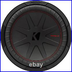 KICKER 48CWR124 CompR 12 Inch Dual 4 Ohm DVC 1000W Max Power Car Audio Subwoofer