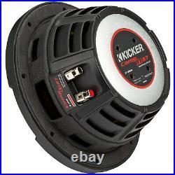 KICKER 48CWRT672 CompRT Dual 2 Ohm 300 Watt 6.75 Inch Car Audio Stereo Subwoofer