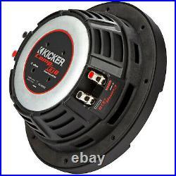 KICKER 48CWRT82 CompRT Dual 2 Ohm 600 Watt 8 Inch Car Audio Stereo Subwoofer