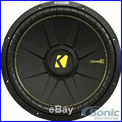 KICKER CompC CWCS154 1200W 15 Inch Dual 4-Ohm Car Subwoofer Sub Woofer