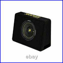 Kicker 10-Inch CompC 2-Ohm Loaded Shallow Subwoofer Box Enclosure 600 Watt Sub