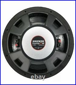 Kicker 12 Inch 1000W Dual 2 Ohm Voice Coils CompR Car Subwoofer 43CWR122
