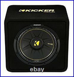Kicker 12-Inch 600 Watt 2 Ohm Vented Loaded Subwoofer Enclosure, 44VCWC122