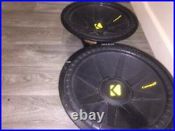 Kicker 40CWS154 CompS 15 inch SVC 1200 Watts Single 4 Ohm Car Subwoofers X 2
