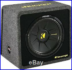 Kicker 40VCWS122 CompS 12-inch Subwoofer in Vented Enclosure, 2-Ohm, 300W