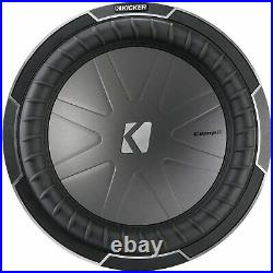 Kicker 42CWQ122 CompQ12 Q-Class 12-Inch Car Audio Subwoofer, 850 W RMS 2 Ohm Sub