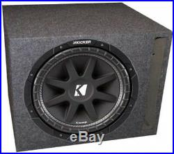 Kicker 43C124 12-Inch 300W 4-Ohm Comp Subwoofer With Single Vented Subwoofer Box