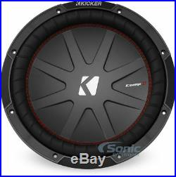 Kicker 43CWR124 12 Inch 1000W 4 Ohm DVC COMPR Car Audio Power Stereo Subwoofer