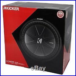 Kicker 43CWR152 800 Watts 15 Inch DVC Dual Voice Coil 2-Ohm Car Audio Subwoofer