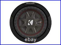 Kicker 43CWRT81 CompRT 8-Inch Subwoofer, Dual Voice Coil, 1-Ohm, 300W