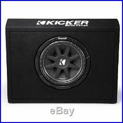 Kicker 43TC104 Comp 10 Inch Subwoofer in Thin Profile Ported Enclosure 4 Ohm