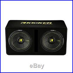 Kicker 44DCWC122 Dual 12-Inch 1200 Watt 2 Ohm Vented Loaded Subwoofer Enclosure