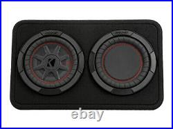 Kicker 48TCWRT82 8 inch CompRT 300W RMS 2 Ohm Thin Profile Loaded Enclosure