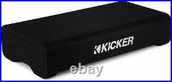 Kicker 48TRTP122 Car Sub TRTP 12-inch Thin Down Firing Subwoofer Enclosure 2 Ohm