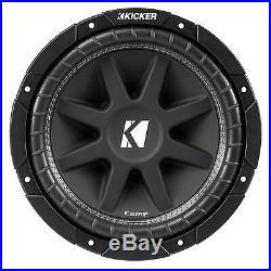 Kicker C154 Comp 15 Inch 600 Watt 4 Ohm Car Audio Power Subwoofer 43C154