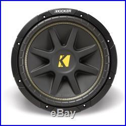 Kicker C15 15-inch Comp Series Single 4-Ohm 250-Watt Sub Subwoofer Install Kit