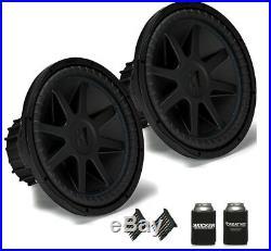 Kicker COMPVX 15 Inch Car Audio Subwoofer, Dual Voice Coil, 4-Ohm, 1000 Watt
