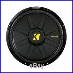 Kicker CWD15 15-inch CompD Series Dual 4-Ohm 600-watt Sub Subwoofer Install Kit