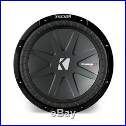 Kicker CWR12 12-inch CompR Series Dual 4-Ohm 500-Watt Sub Subwoofer Install Kit