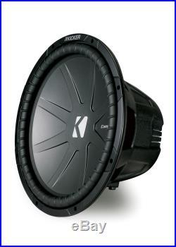 Kicker CWR15 15-inch CompR Series Dual 4-Ohm 800-Watt Sub Subwoofer Install Kit