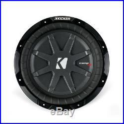 Kicker CWRT10 10-inch CompRT Series Dual 2-Ohm 600W Sub Subwoofer Install Kit