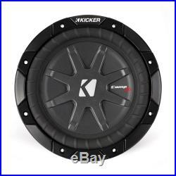 Kicker CWRT8 8-inch CompRT Series Dual 2-Ohm 400-Watt Sub Subwoofer Install Kit