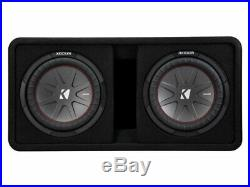 Kicker CompR10 Dual 10 Inch 25cm Subwoofers in Vented Enclosure 2 Ohm 800W