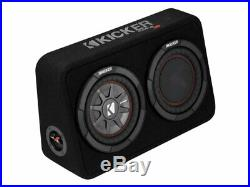 Kicker CompRT8 8 Inch 20cm Subwoofer in Thin Profile Enclosure 2 Ohm 300W