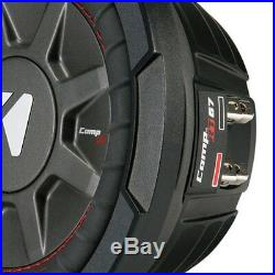 Kicker CompRT 6.75 Inch 300W Max 2 Ohm Shallow Slim Car Subwoofer (2 Pack)