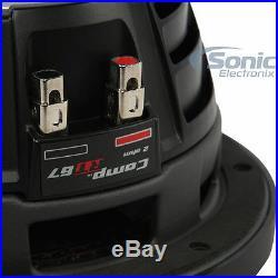 Kicker CompRT Single 10 Inch 800W Max Dual 2 Ohm Slim Car Audio Power Subwoofer