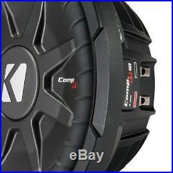 Kicker CompRT Single 10 Inch 800 Watt Max Dual 2 Ohm Shallow Slim Car Subwoofer