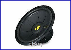 Kicker CompS 15 Inch 4 Ohm Subwoofer 40CWS154 Bundle