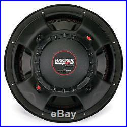 Kicker CompVR 12 Inch 2 Ohm 800 Watt Peak DVC Car Audio Subwoofer 43CVR122