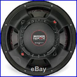 Kicker CompVR 12 Inch Subwoofer with Dual 4 Ohm Voice Coils 43CVR124