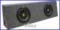 Kicker Dual 10 Inch Comp C10 Car Truck Sub Enclosure Loaded Box 2 Ohm (10C10-4)
