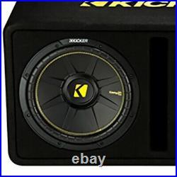 Kicker Dual 12-Inch 1200 Watt 2 Ohm Vented Loaded Subwoofer Enclosure (2 Pack)
