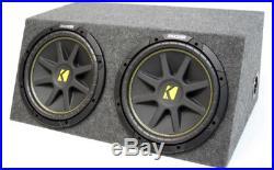 Kicker Dual Comp C12 12 Inch Sealed High Performance Sub Woofer Box 2 Ohm New