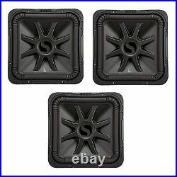 Kicker L7R 10 Inch 1000W Max Power 4 Ohm DVC Square Car Audio Subwoofer (3 Pack)