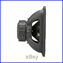 Kicker L7R 10 Inch 1000W Max Power 4 Ohm DVC Square Car Audio Subwoofer, Black
