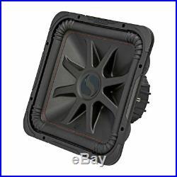 Kicker L7R 12 Inch 1200W Max Power 4 Ohm DVC Square Car Audio Subwoofer, Black