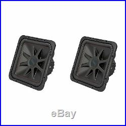 Kicker L7R 15 Inch 1800W Max Power 4 Ohm DVC Square Car Audio Subwoofer (2 Pack)