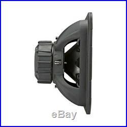 Kicker L7R 15 Inch 1800W Max Power 4 Ohm DVC Square Car Audio Subwoofer, Black