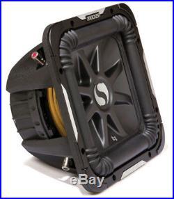 Kicker S8L7D2 8-inch Solo-Baric Dual 2-Ohm 450-Watt Sub Subwoofer Install Kit