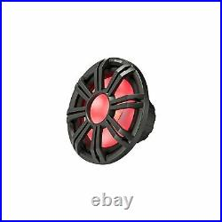 Kicker Two 10 Inch LED Marine Subwoofers in Charcoal 2 Ohm Bundle 4 Ohm each