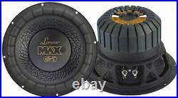 Lanzar MAX12 12 Inch 1000 Watt 4 Ohm Car Audio Power Subwoofer, 2 Pack MAX12