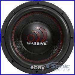 MASSIVE AUDIO GTX 104 1400 Watt 10 inch Dual 4 Ohm GTX Car Audio Subwoofer Sub