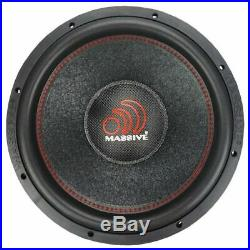MASSIVE AUDIO SUMMOXL154 15 Inch 3000W SUMMO SERIES Dual 4 Ohm Car Subwoofer New