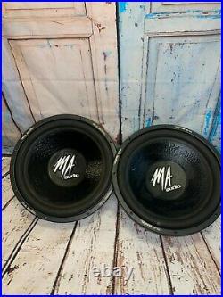 MA AUDIO 15 Inch Subwoofer MA151XQ Dual 4 Ohm Voicecoils