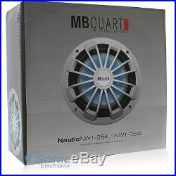 MB QUART NW1-254L 600W 10 Inch Nautic Single-4 Ohm Marine Subwoofer